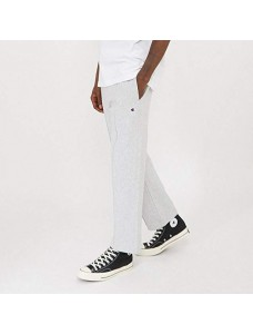 Reverse Weave Straight Hem Sweatpants Grey