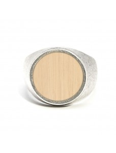 Opposite Ring Silver-Wood