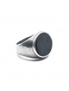 Opposite Ring Wall Silver-Black