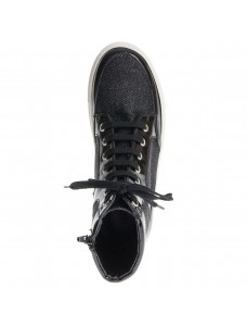 Vegan Hightop Sneaker Bloque With Zip Black