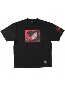 VOLCHOK Shortsleeve Sweatshirt DEATH Black