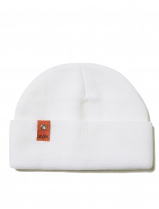 ZIQ & YONI Beanie 'Small Patch' White