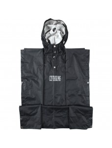 Hooded Rain Cape Black